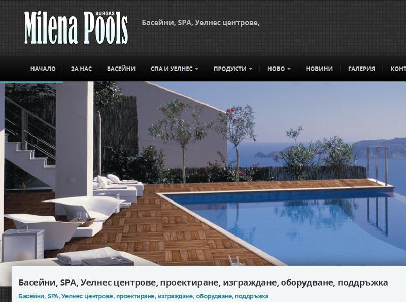 Изработка на сайт на фирма изработваща басейни, SPA и Уелнес центрове